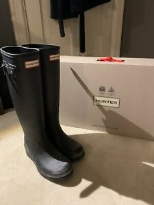 hunter Wellies Wide Fit Uk3 Tall With Box Worn Once