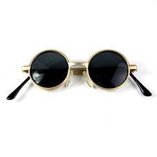 vintage small round gold sunglasses retro Victorian Goth Steampunk Hi Tek