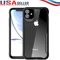 For iPhone 11/11 Pro Max/11 Pro Shockproof Hard Protective Slim Clear Case Cover