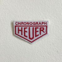 Chronograph Heuer watches badge Iron Sew On Embroidered Patch