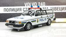 VOLVO 240 1980 Stockholm Swedish police Sweden IXO IST DeAgostini 1:43
