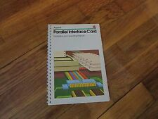 Vintage 1980s Apple II Parallel Interface Card Manual computer software 1982