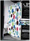 Deluxe Shower Curtain With Matching Hooks Set Choose Contempo or Noon Circles