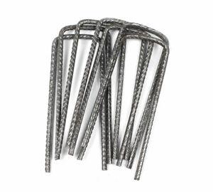 50pcs U Pins Steel Pegs Metal Turf Reinforcement Grass Protection Mesh Mat