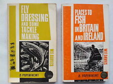 W E DAVIES,FLY DRESSING,TACKLE MAKING.PLACES TO FISH ENGLAND IRELAND.S/B.BW ILLS