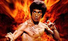 Framed Print - Bruce Lee Enter the Dragon (Martial Arts Picture Kung Fu Karate)