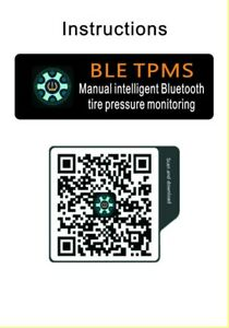 Bluetooth Car Tire Pressure Monitoring System w/ Temperature TPMS Supports iOS F