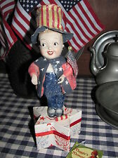 """Bethany Lowe """"Yankee Doodle Dandy"""" Patriotic Uncle Sam Candy Container Box,New"""