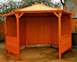 Garden Wooden Gazebo, Hot Tub