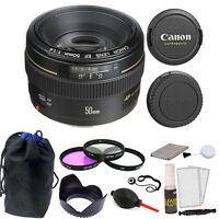 Canon EF 50mm f/1.4 USM Autofocus Lens with Accessories for Canon T6S 80D 70D 6D