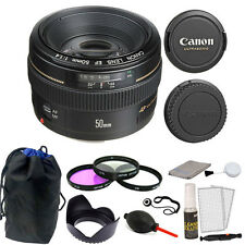 Canon EF 50mm f/1.4 USM Autofocus Lens with Accessories for Canon T6S 80D 70D 6D