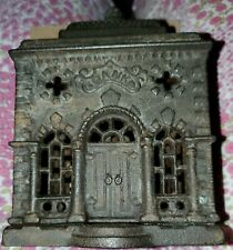 New ListingEarly Antique Cast Iron Building Still Bank