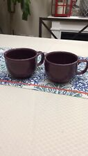 2 homer laughlin fiestaware Purple Large 16oz Mugs