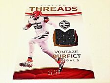 Vontaze burfict 2016 Panini Limited oro threads Game Used Jersey #/99 bengals