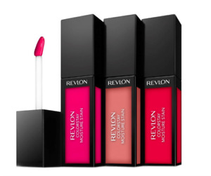 REVLON COLORSTAY MOISTURE STAIN LIPGLOSS COLOUR (SQUARE CASE) RED PINK *CHOOSE*