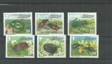 ALDERNEY-SGA481-486 BEETLES SET 2013 MNH