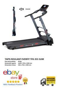 Tapis roulant Everfit TFK 355 Slim -New 2021 richiudibile fino a 14 km/h