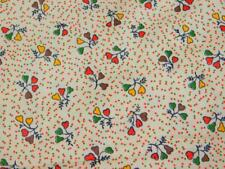 "2 Yards 36"" wide Vintage 100% COTTON FABRIC Quilt Red Yellow Green Small Pears"