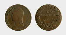 s525_1) FRANCE Swiss GENEVA 5 Centimes An 8 (1799-1800) G bronze