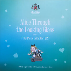 2021 SECOND SERIES 50p Fifty Pence 5-Coin Set Alice Through the Looking Glass