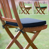 Garden Bistro Chair Cushions Seat Pads Set of 2 Plant Theatre