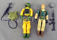 "GI Joe AIRTIGHT & CRANKCASE 3-3/4"" Action Figures Version 1 Series 4 1985 Hasbro"