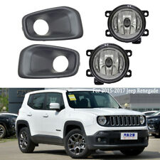 For Jeep Renegade 2015-2017 Fog Light Kit Cover Bezel Driving Lamp Clear Lens
