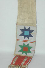 Genuine Antique Sioux Plateu Beaded Quiled Pipe Bag