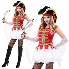 Womens Pirate Costume Adult Ladies Buccaneer Beauty Fancy Dress Halloween Outfit