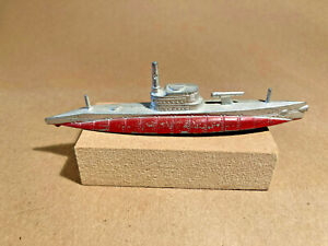 Vintage Tootsietoy Submarine Complete and with Wheels Reduced $