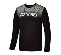 YONEX 19 F/W Men's T-Shirts Badminton Apparel Clothing Black Racquet 99TL006M