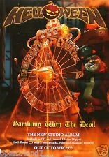 "HELLOWEEN ""GAMBLING WITH THE DEVIL"" GERMAN PROMO POSTER -Speed Metal Music"
