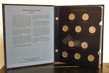 Whitman Classic Coin Album Statehood Quarters 1999-2008 Missing 10 Coins