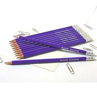 12 Purple Pencils Personalised with Name High Quality Printed/Embossed Pencils