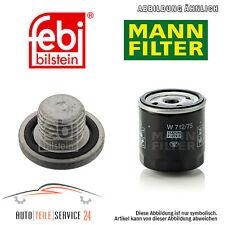 Mann-Filter Original Ölfilter Und Ölablass-Schraube Opel Vectra B Preisaktion