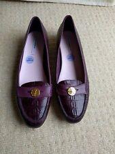 New Isaac Mizrahi Live Womens leather loafers Purple / Wine / Burgundy UK 6 EU39