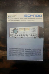 (1) PIONEER SD-1100 Spec Sheet, original