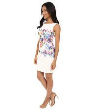 Tahari ASL Multi-Color Floral Print Double Woven Lace CocktailSheath Dress Sz 4
