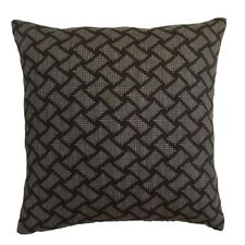 "Satin Brick Pattern 18x18"" Black/Gray Decorative/Throw Pillow Case/Cushion Cover"