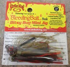 Strike King Bitsy Bug Mini Jig - Green Craw - 1/4oz, Bass Yellow Belly Lure
