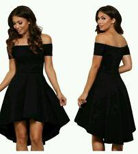 New Stunning black Off shoulder Skater Dress Size uk 18-20