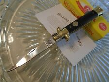 "Kissing Crane Black Comp Stiletto Dagger Pocket Knife 440 5502 7"" Open New"
