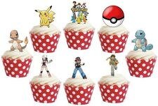 POKEMON edible cupcake cake toppers decorations *STAND UPS*
