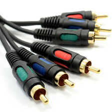 15cm Component Video RGB YUV 3 Phonos To 3 Phono Cable Lead 0.15m [004933]