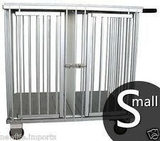 AEOLUS Pro 2-Berth Aluminium Dog Show Trolley - Small (Black)