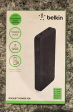 Belkin Pocket Power Bank 15000 15K MAH 3.4A 17W 2 Portable Charger Black
