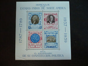 Stamps - Guatemala - Scott# C92 - Souvenir Sheet