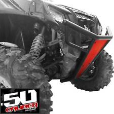 RZR Front Bumper Skid Plate LED Tabs Black Frame Polaris 570 800 XP900 Red
