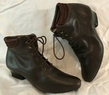 Stead&Simpson Brown Ankle Leather Lovely Boots Size 6 (779vv)