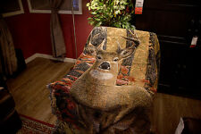 Tapestry Sofa Blanket Rugs Moose Wall Wildlife Art Decor Rustic Lodge Woven Gift